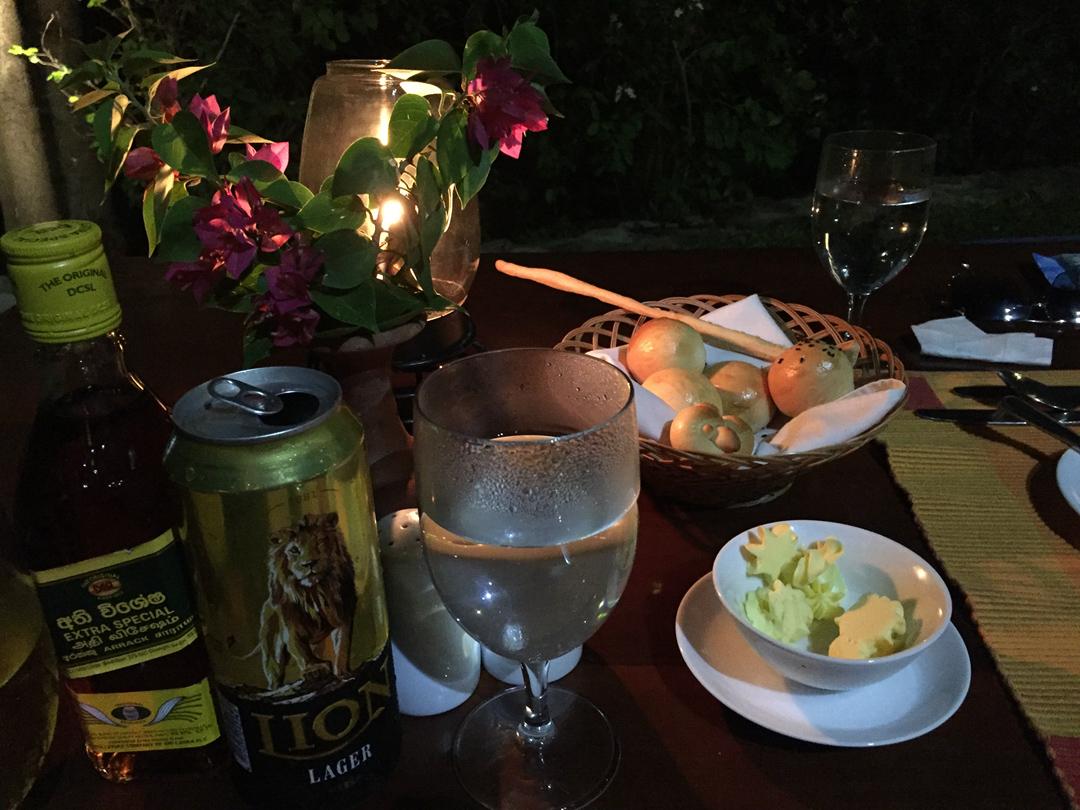 6. 晚上在Yala湖旁的晚餐,酒店好像就我们一户客人似的,炒鸡满意.jpg.jpg